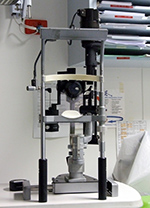 Eye examination microscope